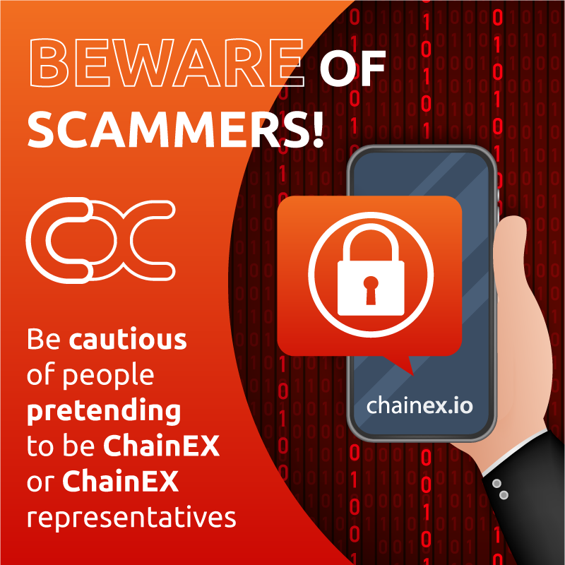 Scammer Alert: How to identify the official ChainEX Accounts